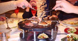 Noktara - Halal Raclette zu Silvester mit integriertem Dönerspieß für Mini-Kebabs