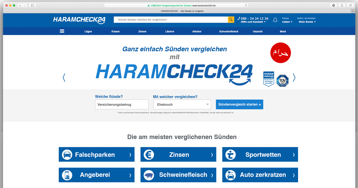 Quelle: Screenshot von haramcheck24.de