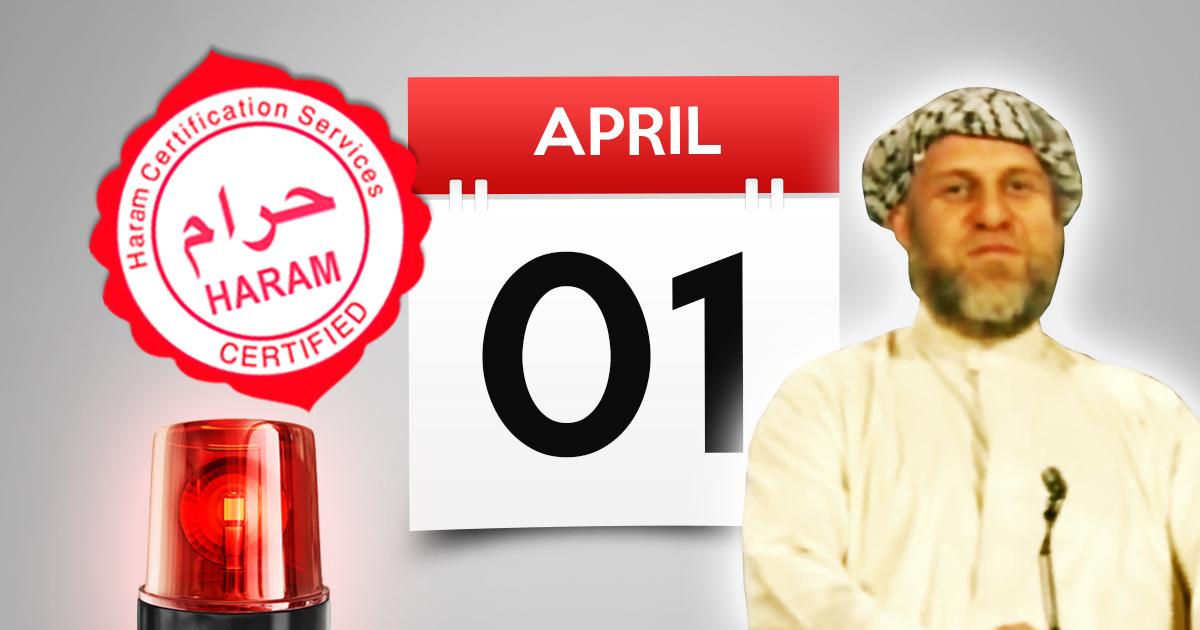 Haramstufe Rot: Warnung vor Aprilscherz