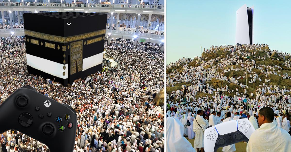 Noktara - Heiliger Konsolenkrieg zwischen Mekkasoft Xkabaa Series X und Saudi PrayStation 5