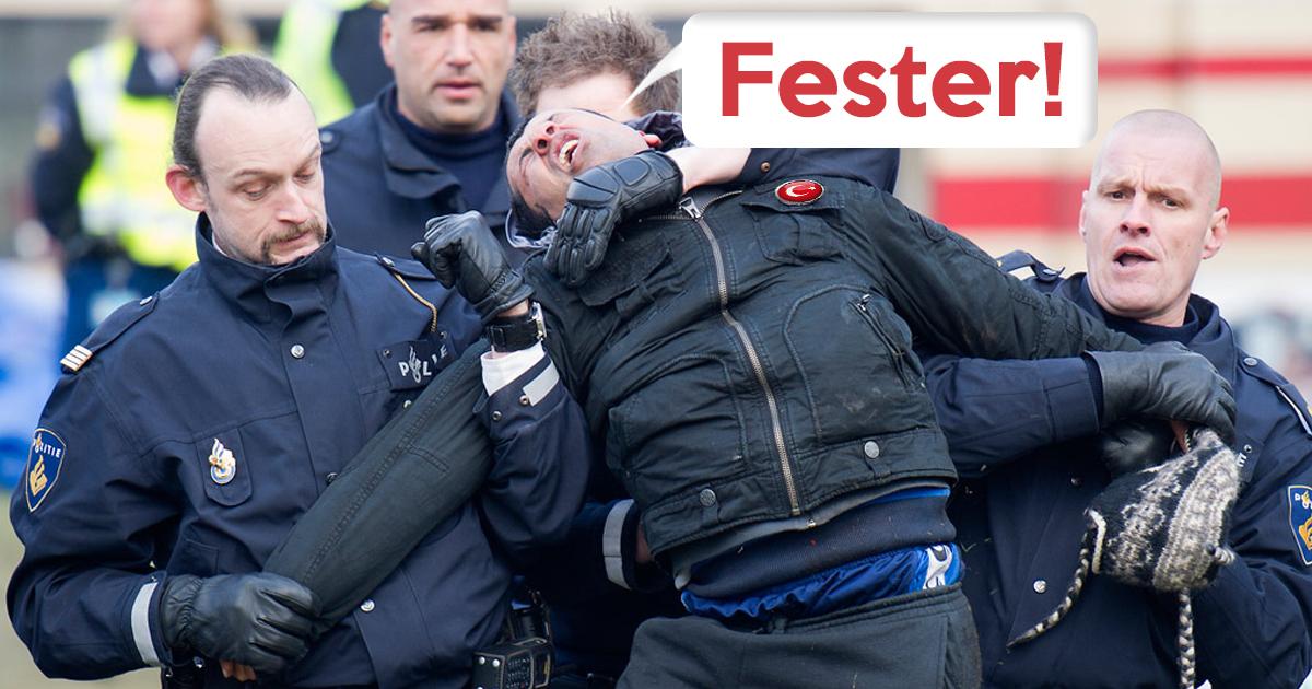 Heimweh: Niederländische Polizei verprügelt Erdogan-Anhänger