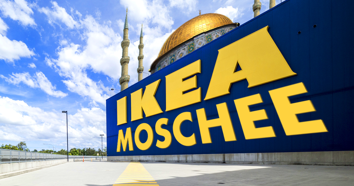 ikea moschee vom m belhaus zum gebetshaus. Black Bedroom Furniture Sets. Home Design Ideas