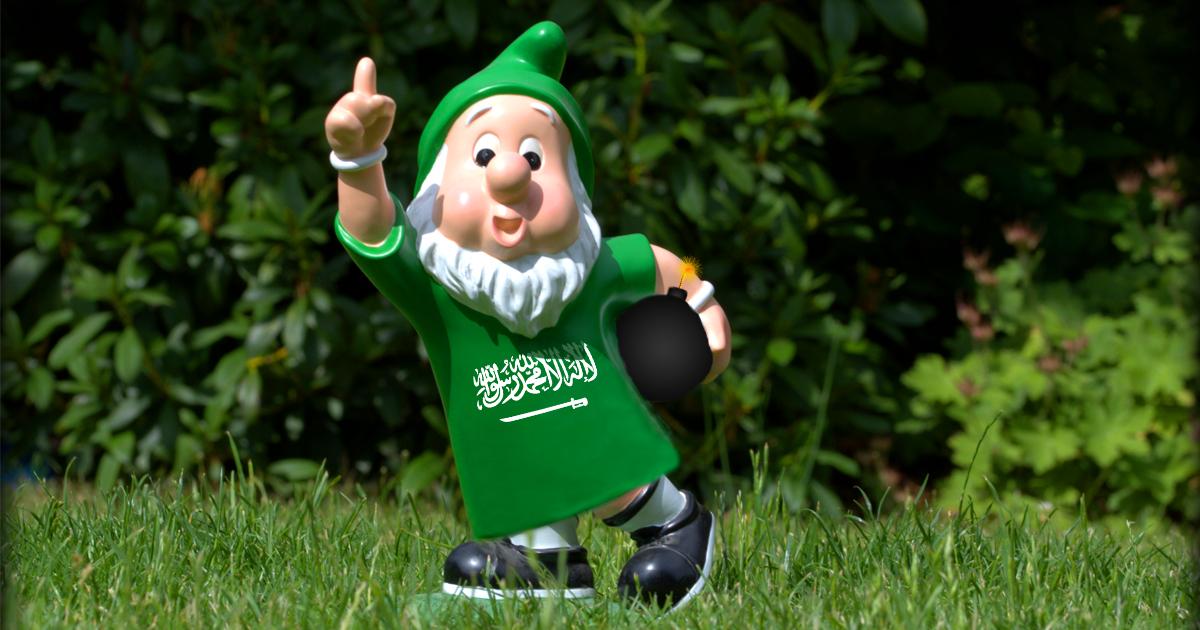 Noktara - Immer mehr muslimische Gartenzwerge erobern Deutschland - Saudi-arabischer Gartenzwerg