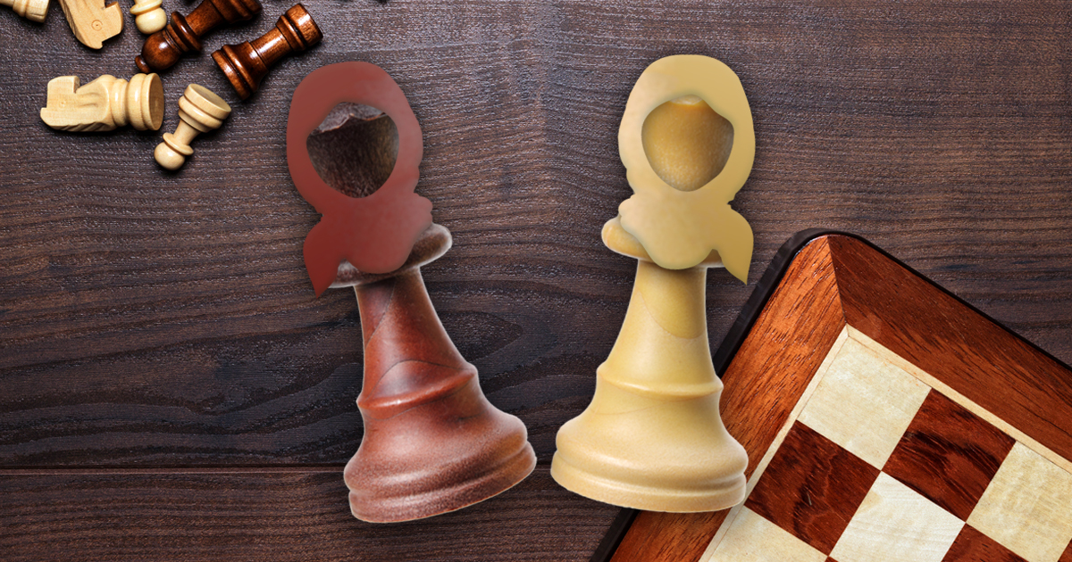 Noktara - Iran verbietet Schach, weil Dame kein Kopftuch trägt - Neue Schachfiguren