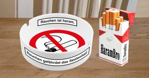 Noktara - Islamischer Aschenbecher warnt Raucher vor sündigen Zigaretten