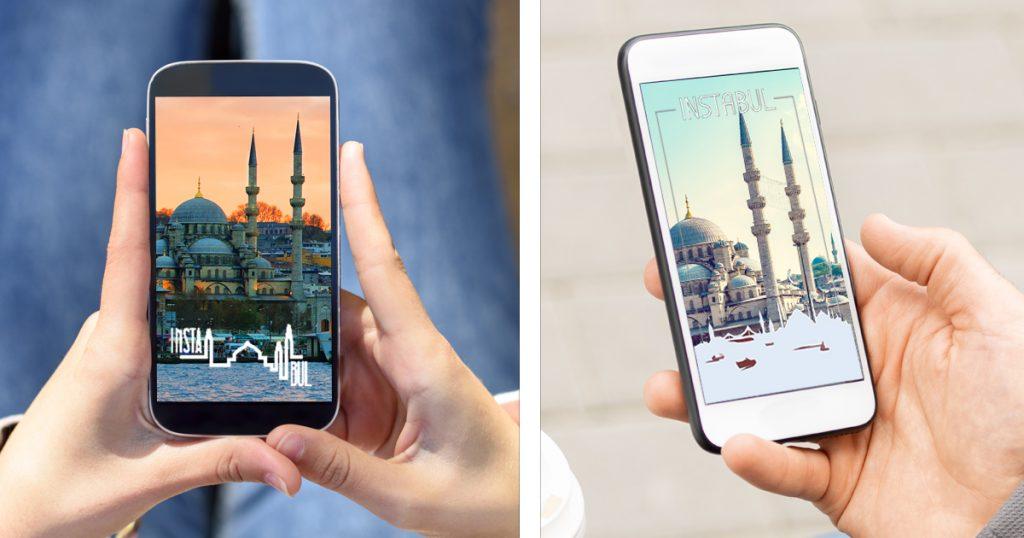Noktara - Istanbul benennt sich für mehr Social-Media-Reichweite in Instabul um - Geofilter
