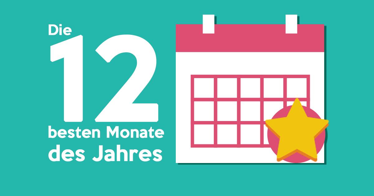 Jahresrückblick: Die 12 besten Monate des Jahres!