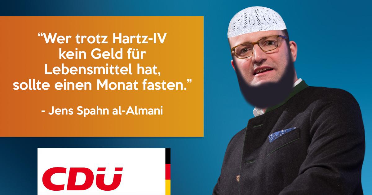 Jens Spahn rät Hartz-IV-Empfängern zum Fasten