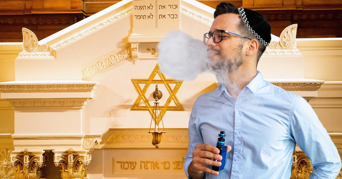 Noktara - Jom Kippur- Fastender Jude inhaliert gasförmige Nahrung
