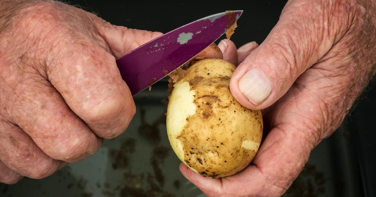 Noktara - Kannibalismus - Deutscher isst eine Kartoffel - Alman
