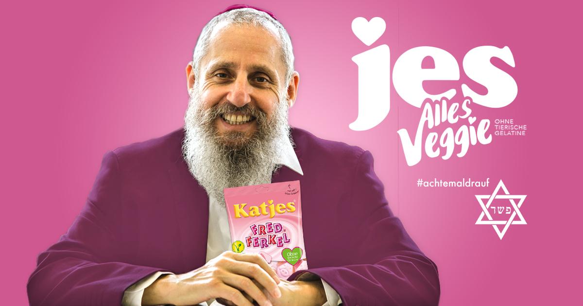 Katjes wirbt mit jüdischem Rabbi für koschere Fruchtgummis