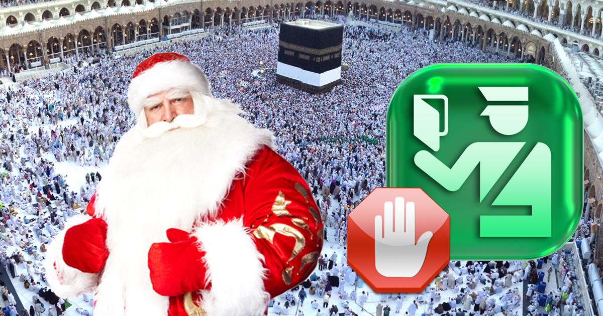 Kein Visum für den Weihnachtsmann in Mekka
