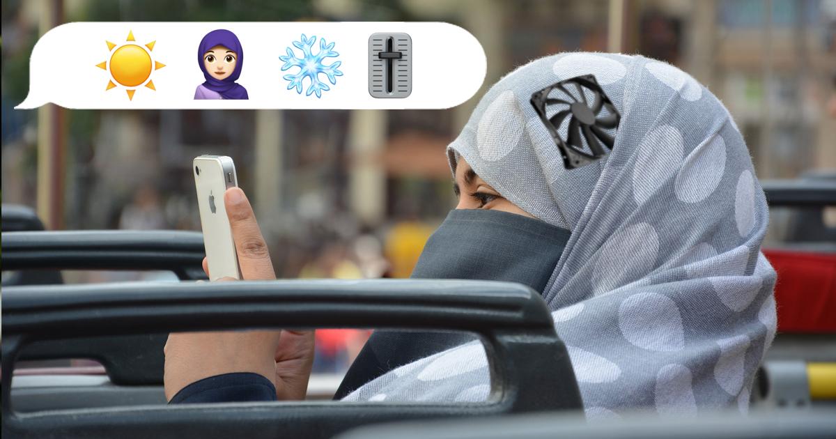Noktara-Kopftuch-Klimananlagen-App