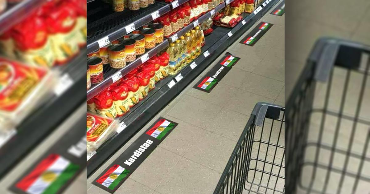 Kurden besetzen türkische EDEKA-Regale