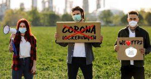 Noktara - Längsdenker demonstrieren gegen Corona-Lockerungen