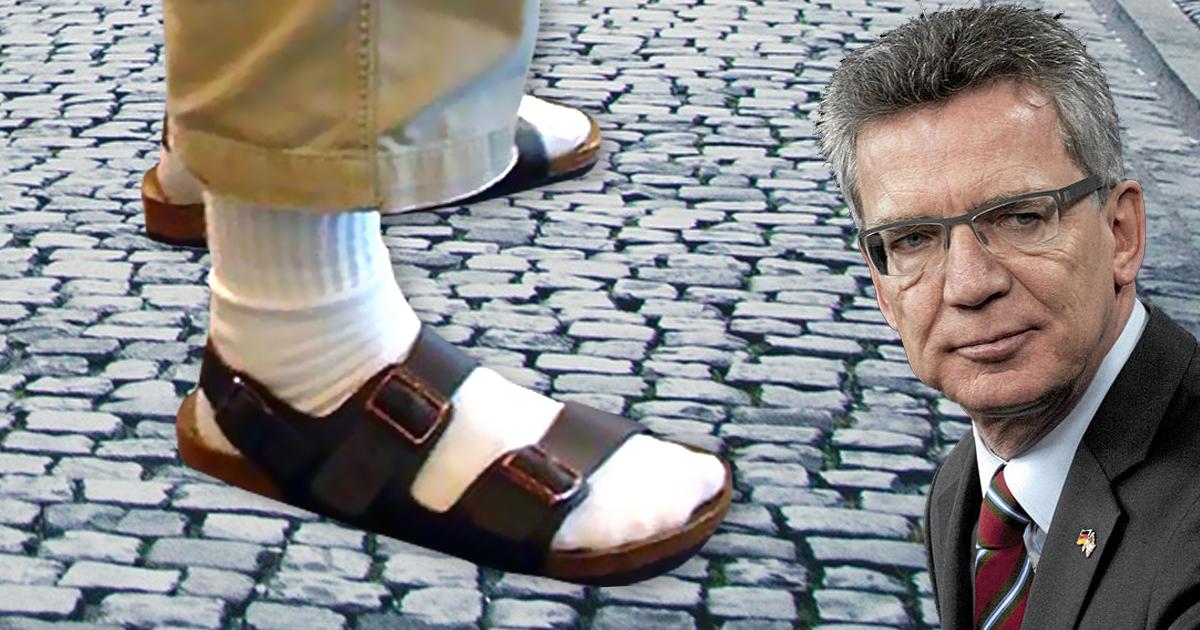 Leitkultur: Wir sind nicht Burka. Wir sind Sandalen mit Socken.