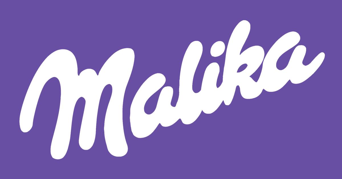 Milka Logo wird zu Malika