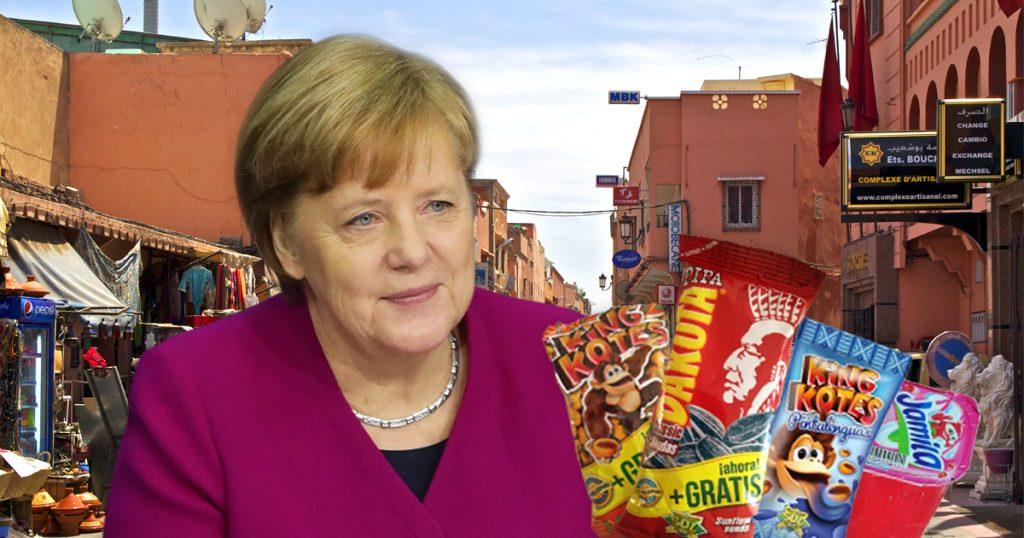 Noktara - Merkel in Marokko - Kanzlerin kauft sich eine Tüte Sonnenblumenkerne - Pipa-King Kotes-Raibi-Jamila-Dakota