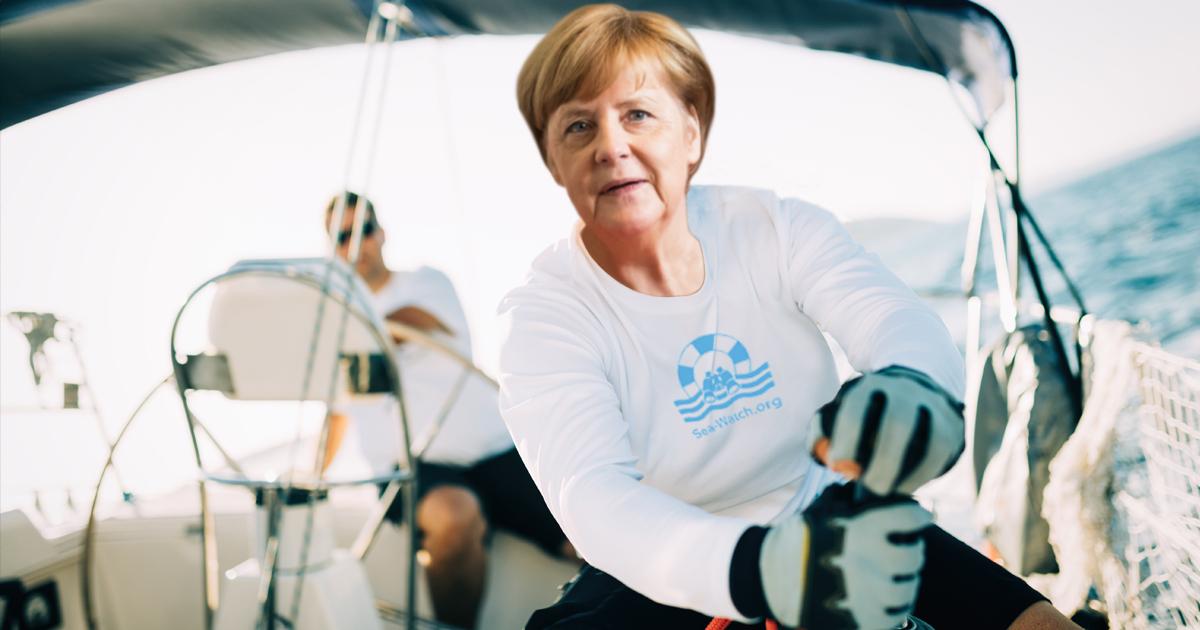 Noktara - Merkel tritt Sea-Watch bei und nimmt Seenotrettung in die eigene Hand