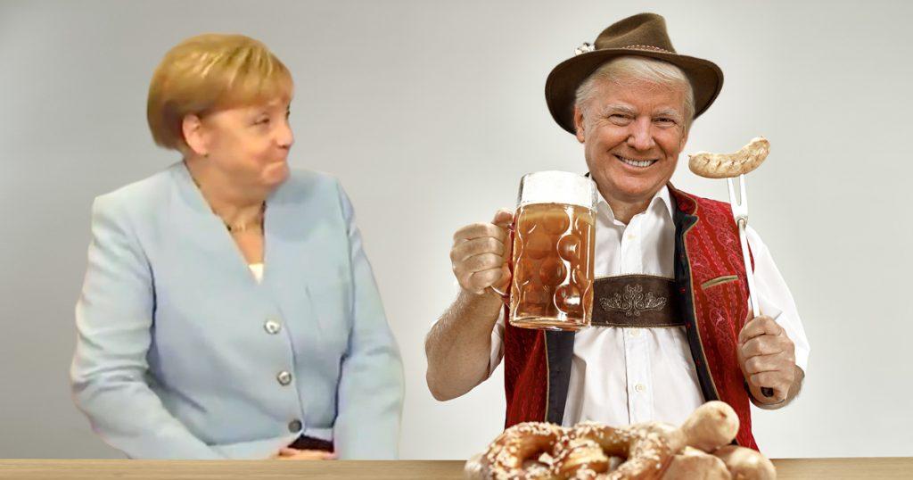 Noktara - Merkel vor Lachen geplatzt, weil sich Trump als Deutscher präsentierte