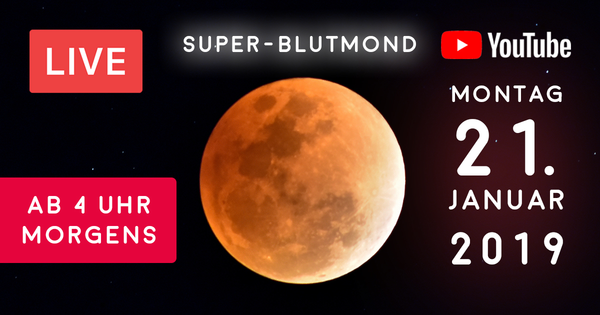Noktara - Mondfinsternis 2019 - Bewundere den Super-Blutmond LIVE auf YouTube