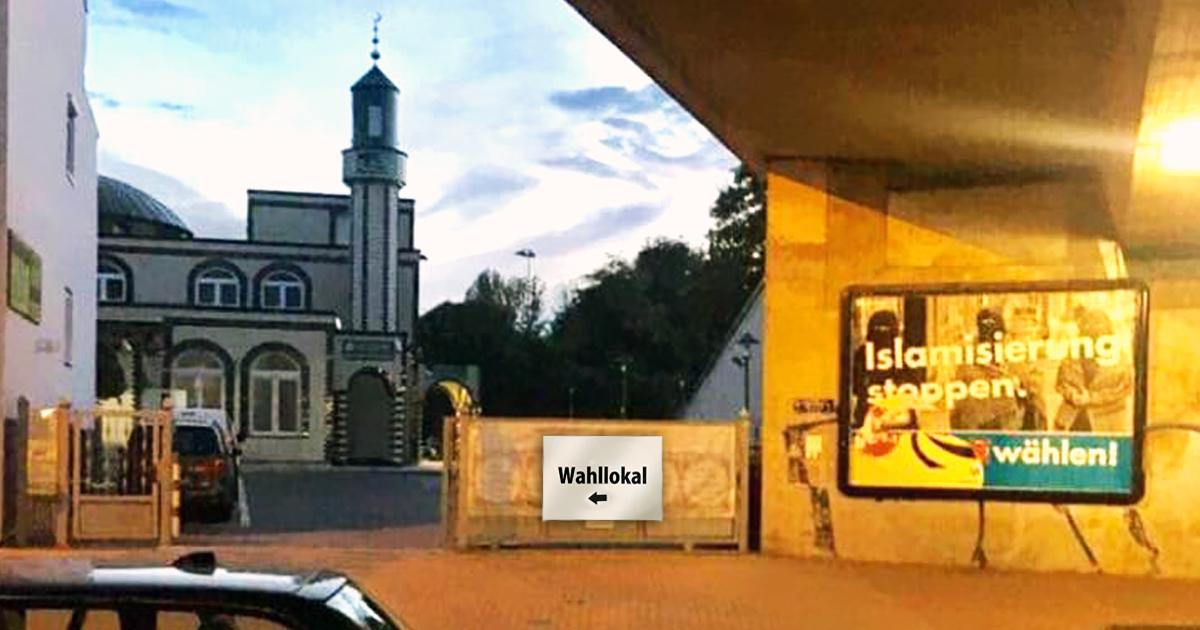 Moschee wird als Reaktion auf AfD-Plakat zu Wahllokal