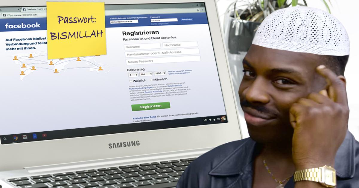 Noktara - Muslim ändert alle seine Passwörter auf BISMILLAH