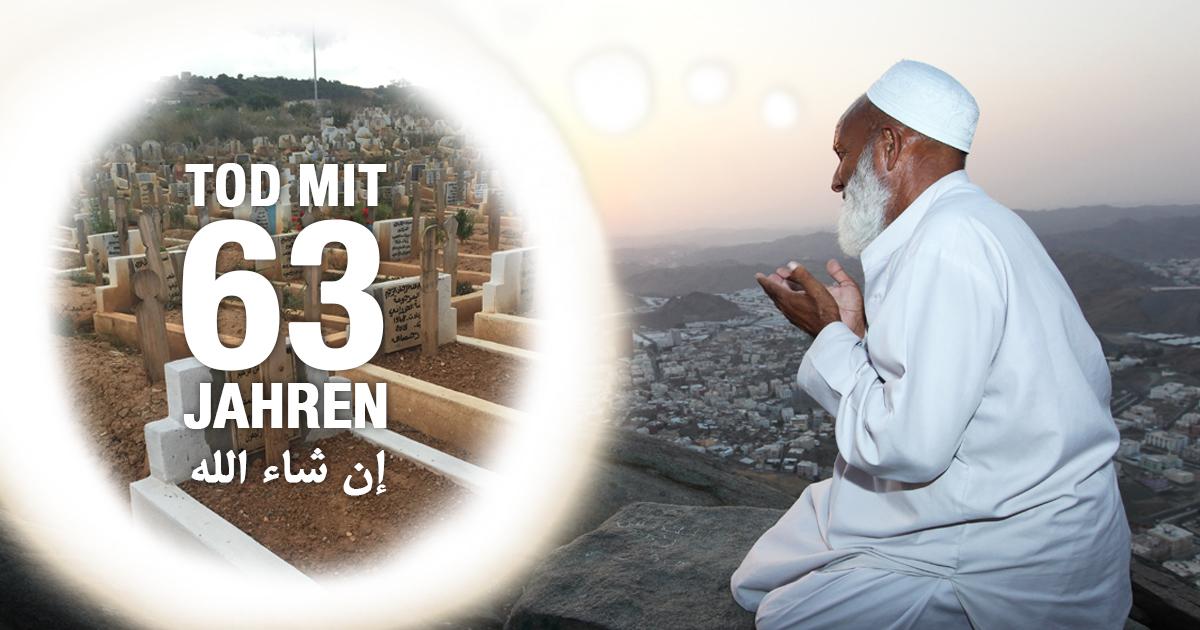 Muslim hofft im Alter von 63 Jahren zu sterben