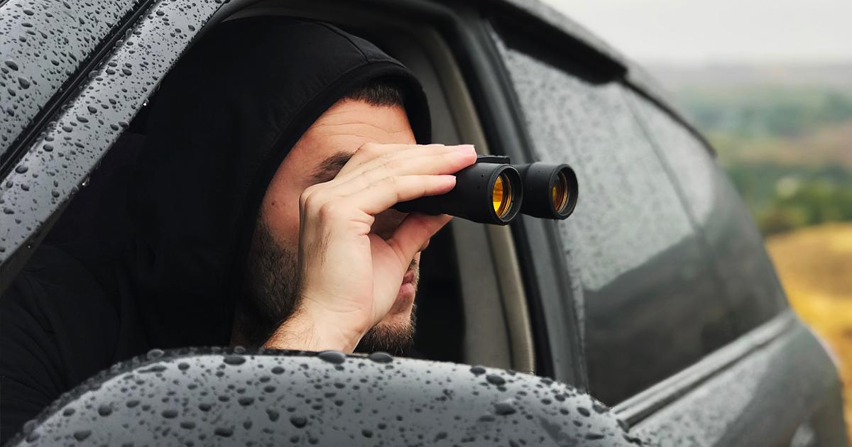 Noktara - Muslim starrt ununterbrochen Frau an, weil der zweite Blick haram ist - Fernglas