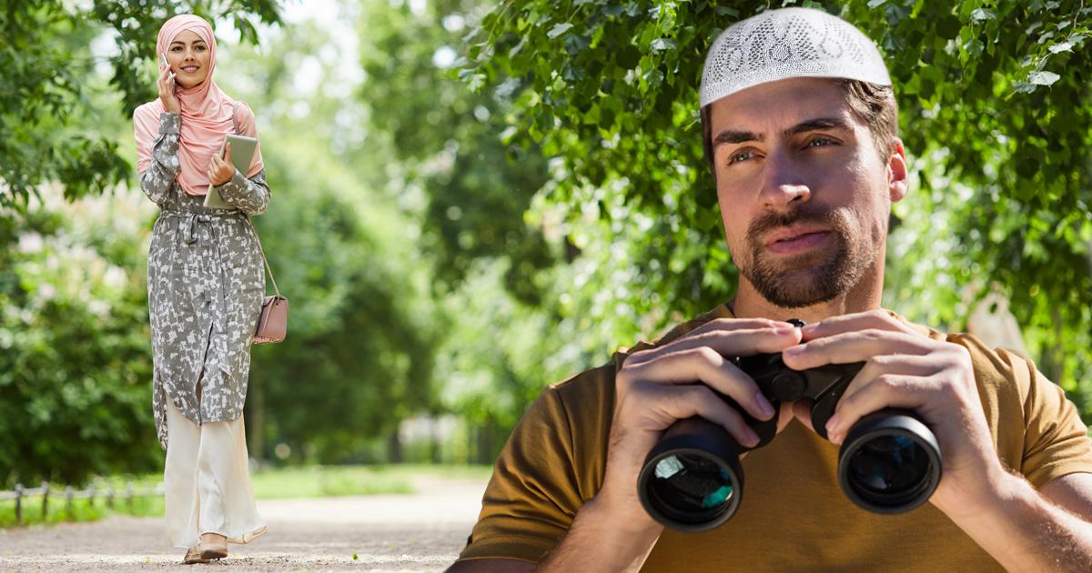 Noktara - Muslim starrt ununterbrochen Frau an, weil der zweite Blick haram ist