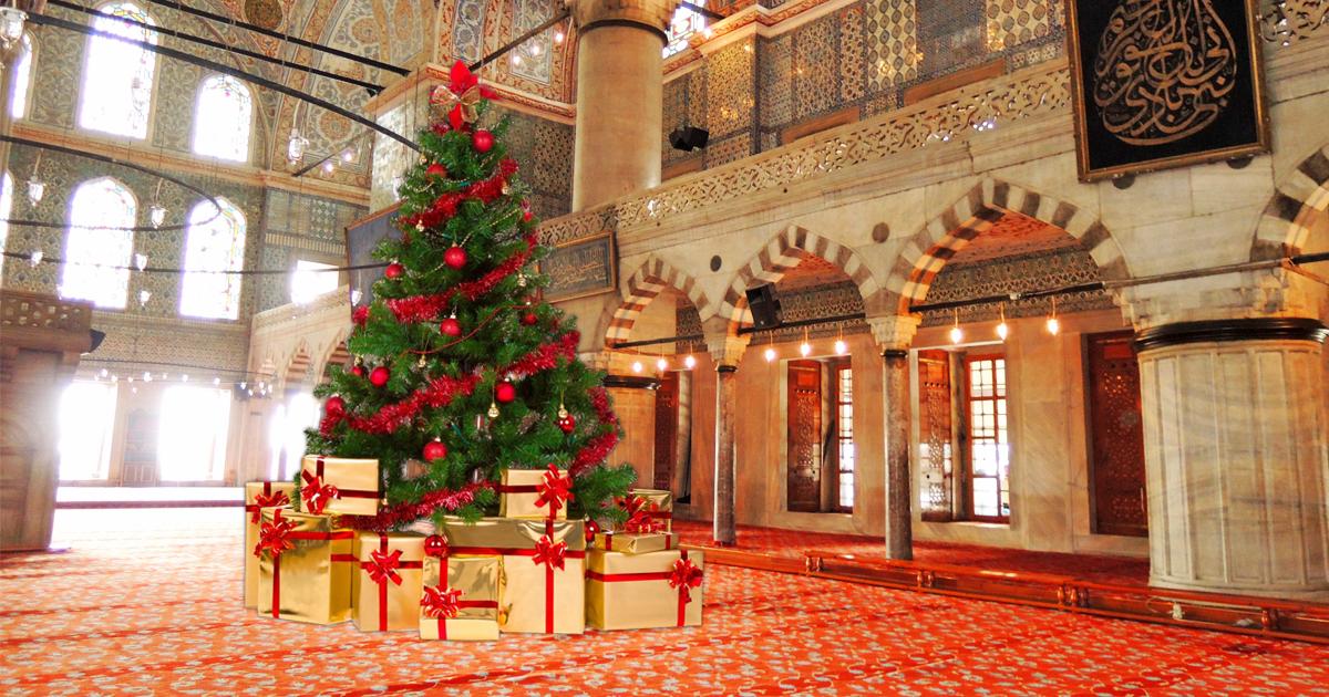 muslime veranstalten weihnachtsfeier in moschee. Black Bedroom Furniture Sets. Home Design Ideas