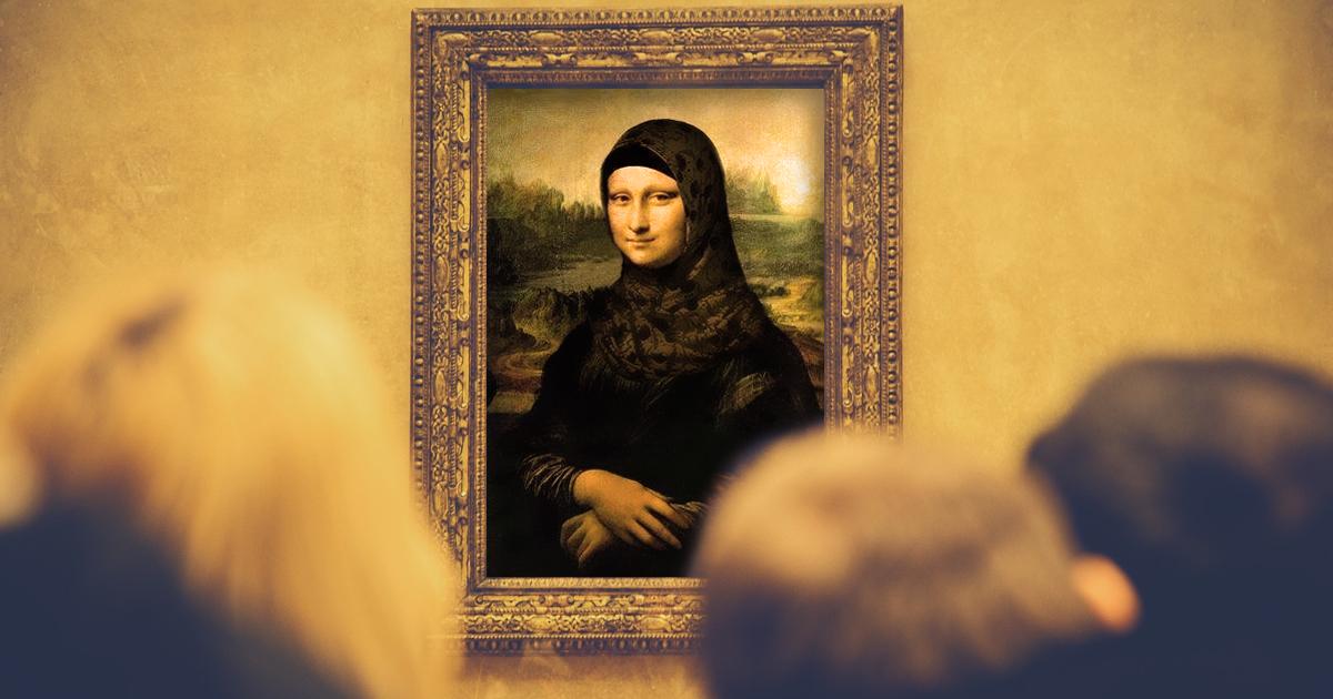 Muslimischer Milliardär kauft Mona Lisa und verpasst ihr ein Kopftuch