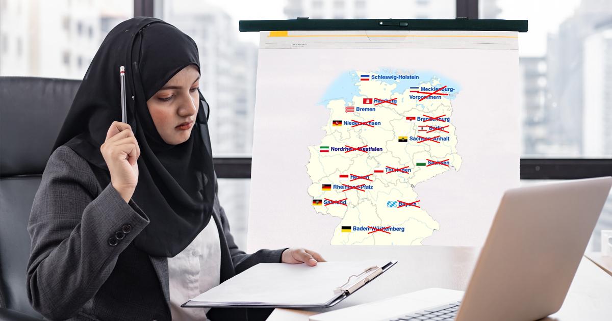 Noktara - Muslimischer Studentin gehen die Bundesländer ohne Kopftuchverbot aus