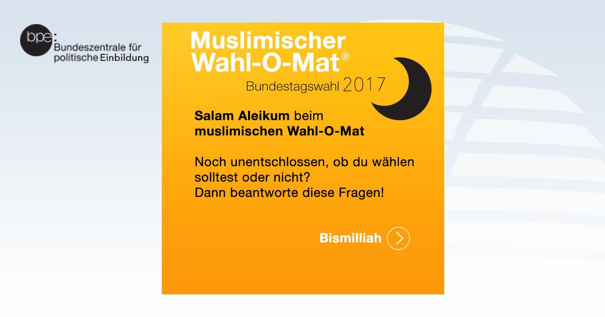 Muslimischer Wahl-O-Mat zur Bundestagswahl 2017: Wählen oder nicht?