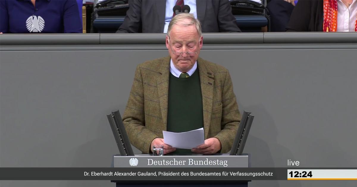 Noktara - Nach Maaßens Rücktritt - Gauland zum Verfassungsschutzpräsident ernannt