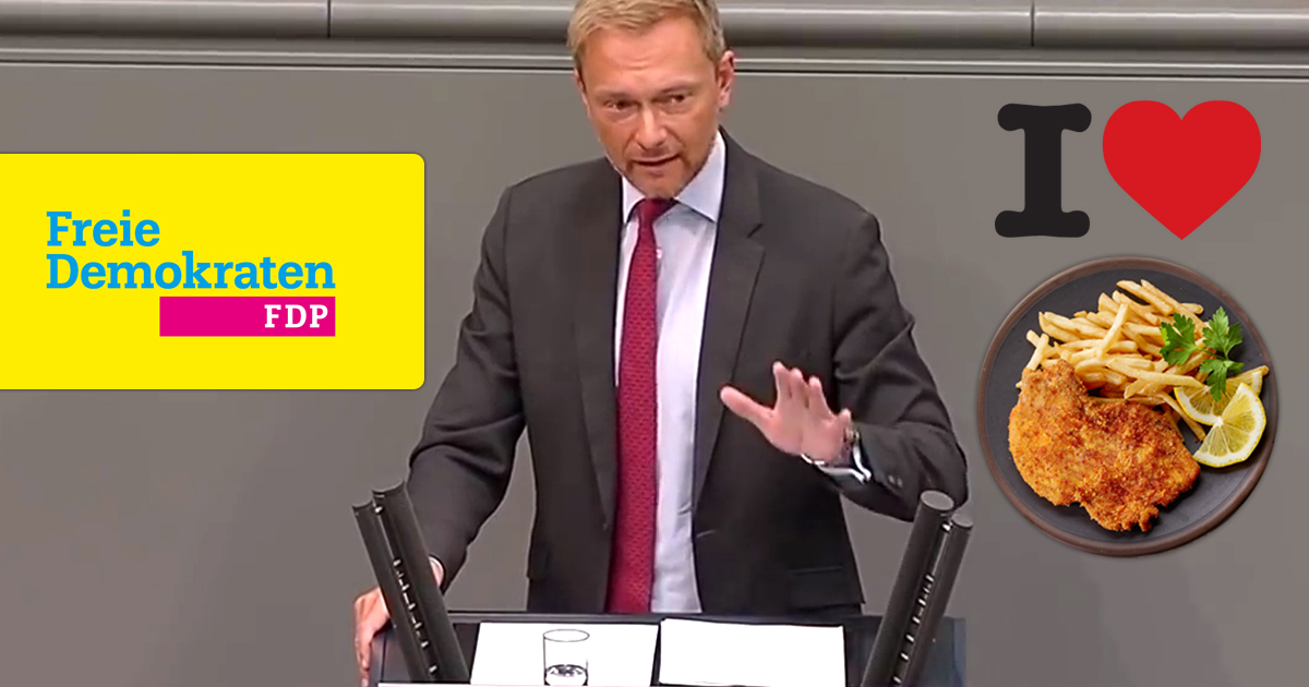 Nach Schnitzel-Verbot: 7 weitere Dinge, die sich Christian Lindner nicht verbieten lassen will