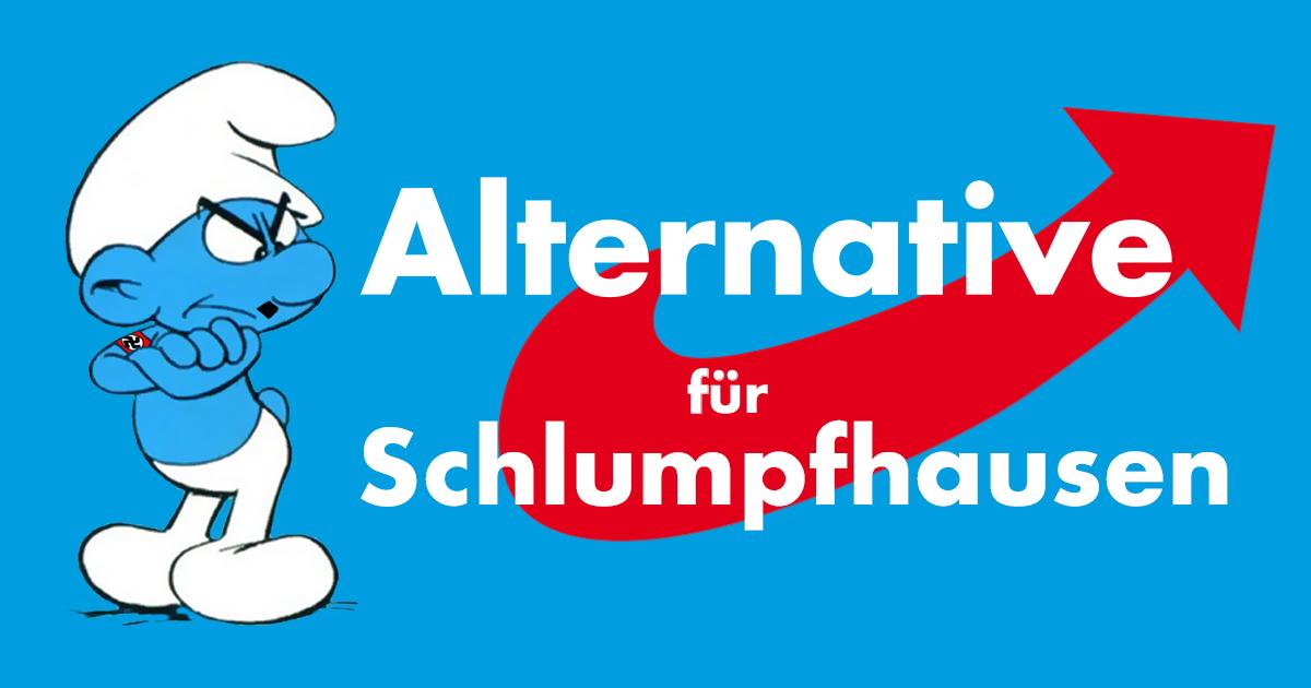 Noktara - Nazi-Alternative für Schlumpfhausen - AfD Schlümpfe
