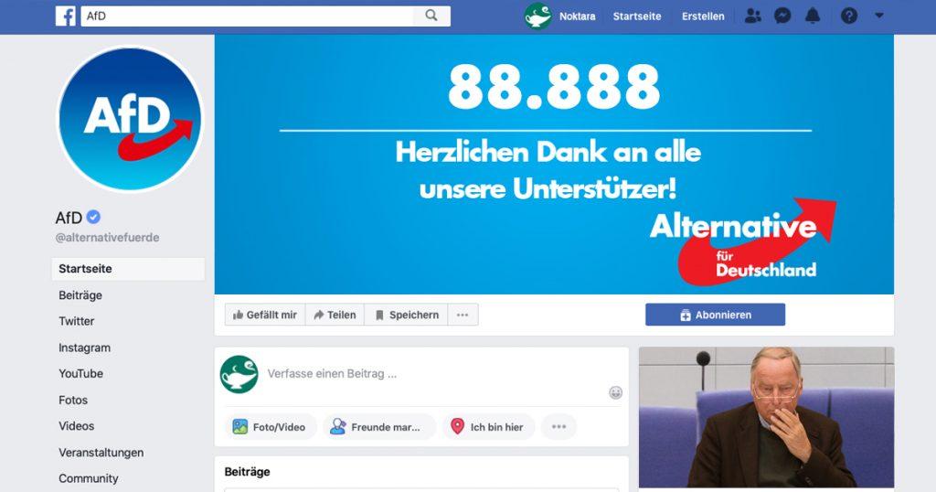 Noktara - Nazi-Zahlen - AfD feiert ausgerechnet 88.888 Likes