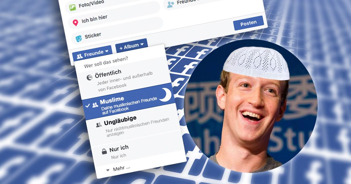 Neue Privatsphäre-Einstellung erlaubt es Facebookfreunde nach Ungläubigen zu filtern