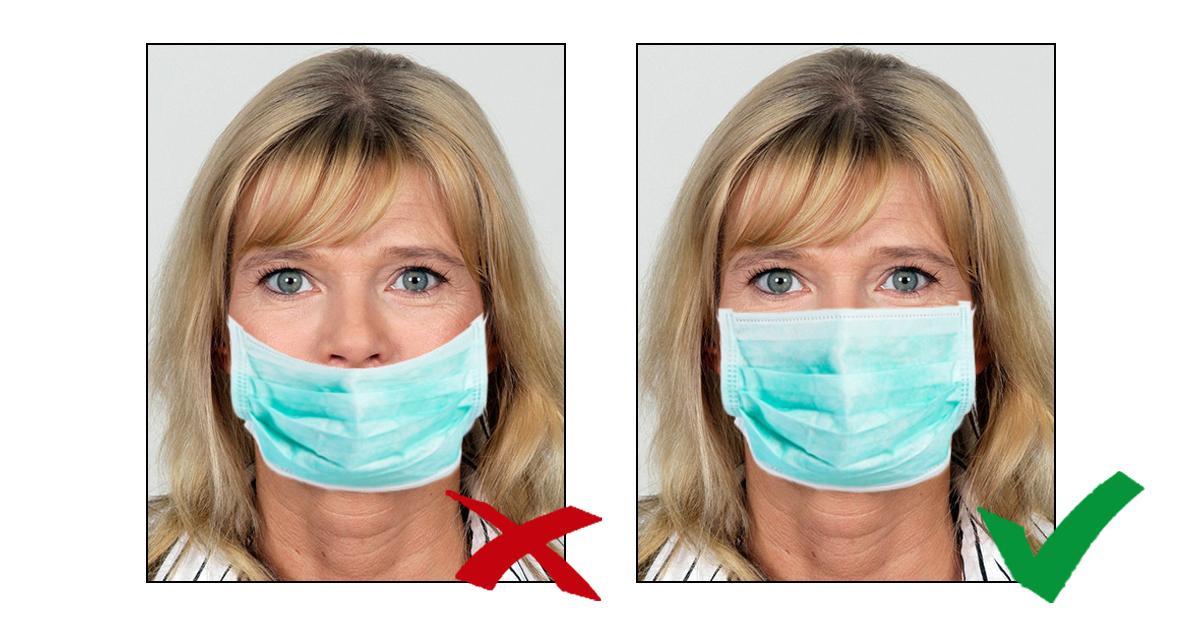 Noktara - Neuer Personalausweis nur noch mit Maske auf Passfoto erlaubt - korrekte Maskenpflicht