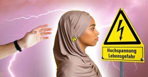 Noktara - Nicht anfassen - elektrisches Kopftuch verhindert Runterziehen