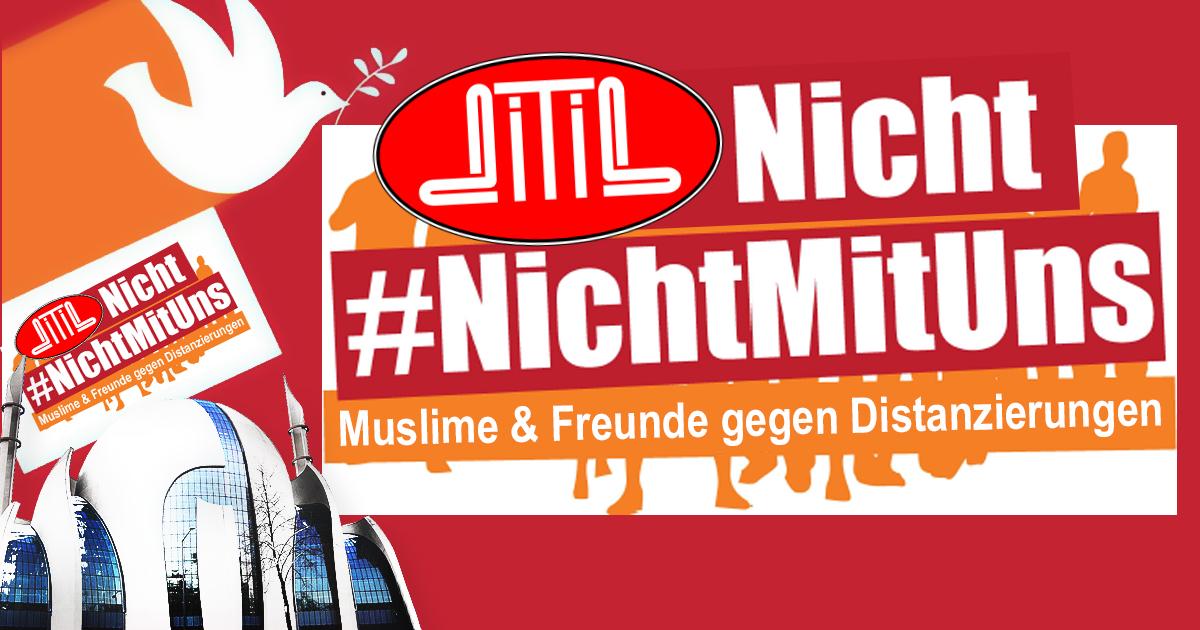 #NichtMitUns: DITIB macht Demo gegen Anti-Terror-Demo