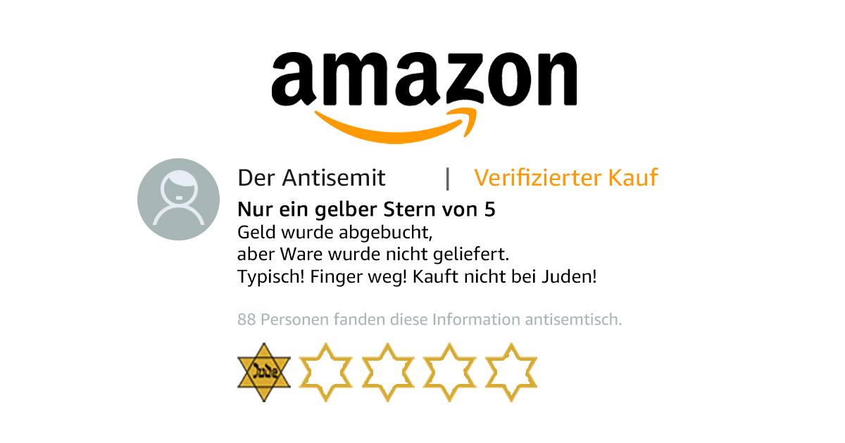 Noktara - Nur ein gelber Stern - Antisemit bewertet jüdische Produkte negativ - Judenstern - Kundenrezension