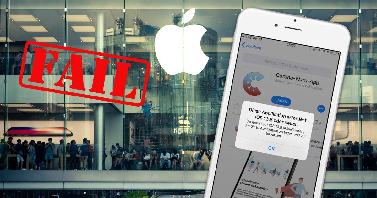 Noktara - Nutzer mit älteren iPhones strömen wegen Corona-Warn-App in überfüllten Apple Store