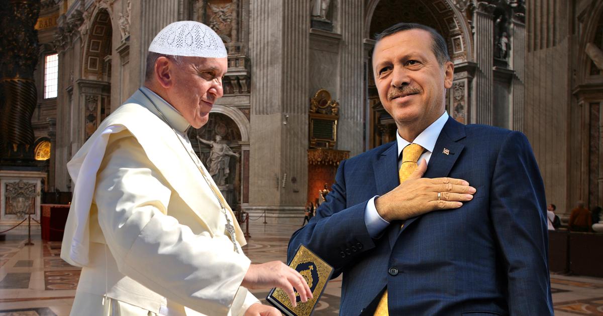 Papst nach Erdogan-Besuch zum Islam konvertiert