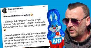 Noktara - Pegida-Gründer Lutz Bachmann schluckt schokoladige Oster-Satire
