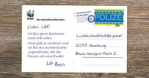 Noktara - Polizei veröffentlicht als Existenznachweis zweite Dankes-Postkarte