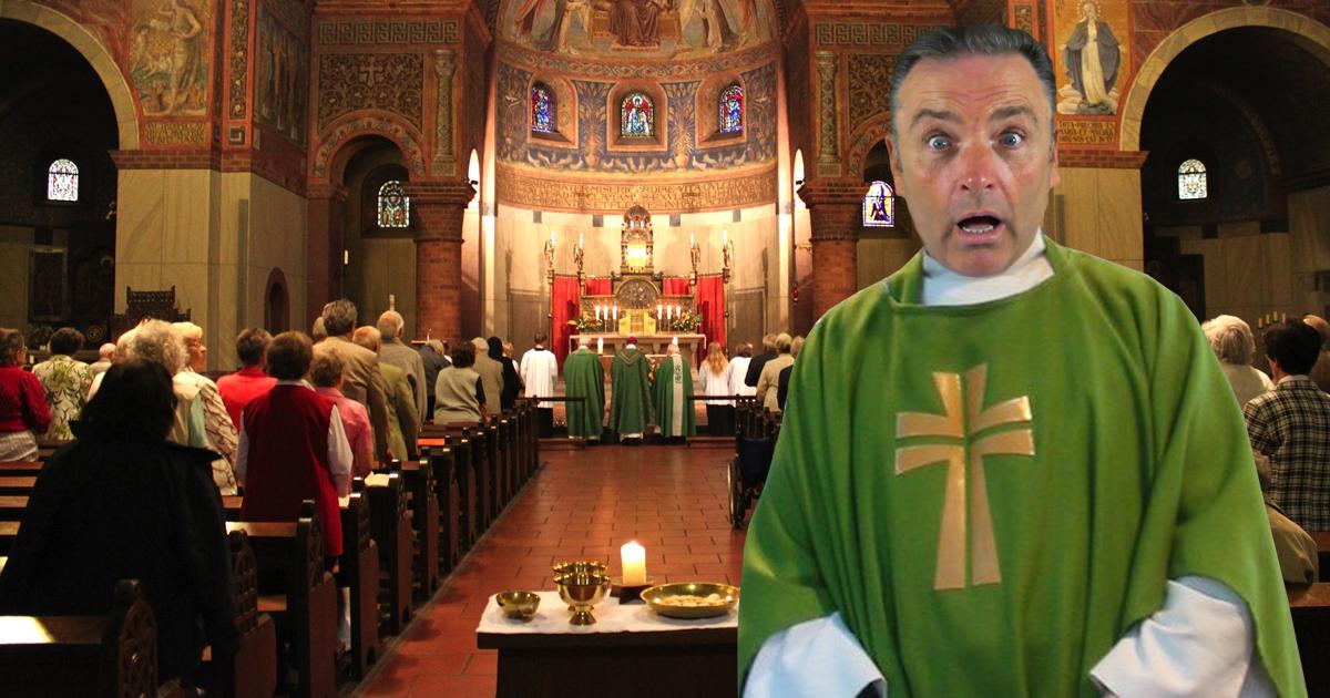 Priester bekommt Lampenfieber wegen ungewohnt vollem Gotteshaus