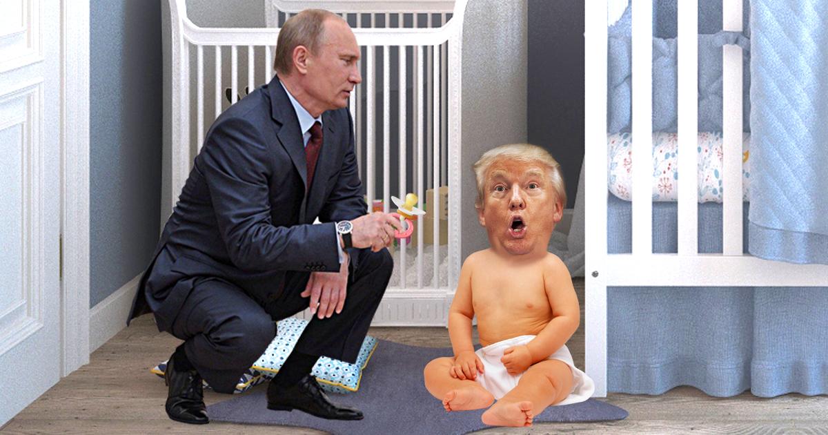 Noktara - Putin beruhigt Trump-Baby mit einem Schnuller