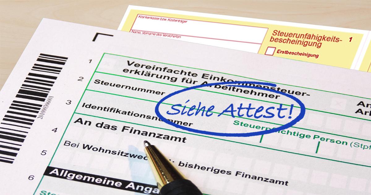 Noktara - Querdenker legt Finanzamt anstelle von Steuererklärung Attest vor